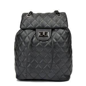 Černý kožený batoh Anna Luchini Caterine