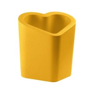 Žlutý květináč Slide Mon Amour, 80x90cm