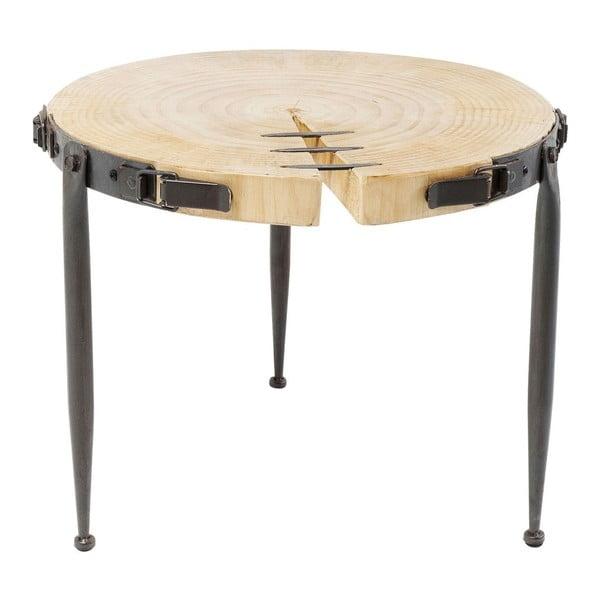 Konferenční stolek z borového dřeva Kare Design Bosco, Ø 41 cm
