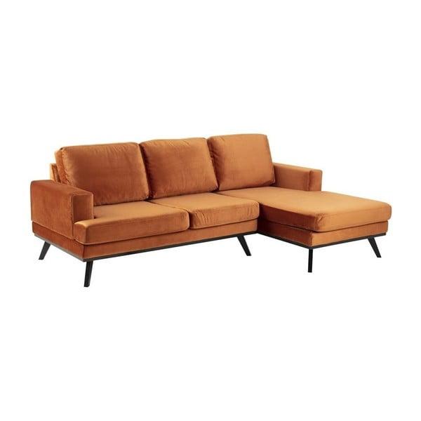 Canapea pe colț Actona Norvich, pe partea dreaptă, portocaliu