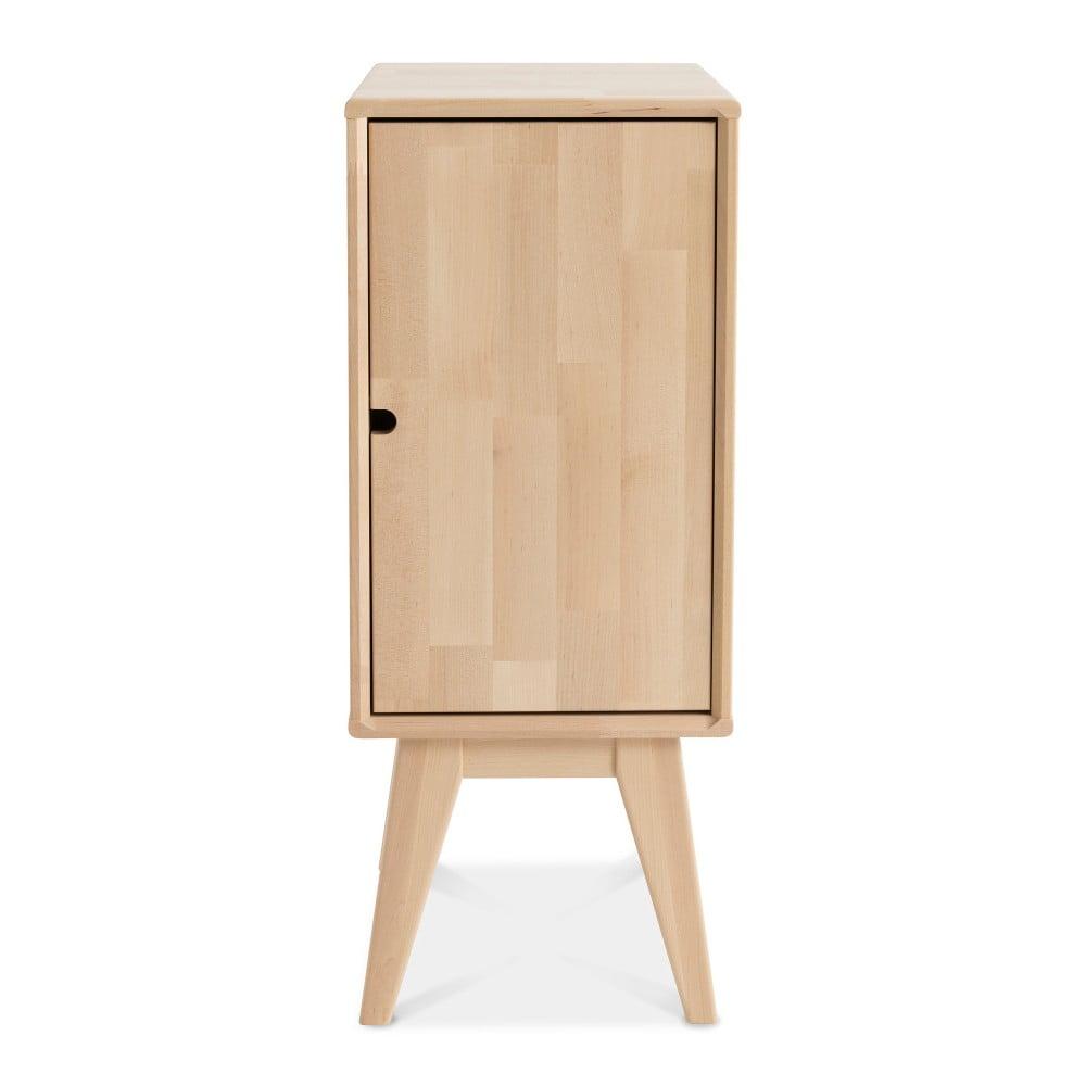 Ručně vyráběný noční stolek z masivního březového dřeva Kiteen Notte