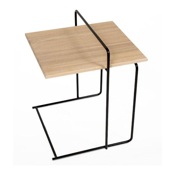 Odkládací stolek s deskou z dubového dřeva Askala