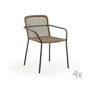 Set 4 scaune de grădină La Forma Boomer, maro