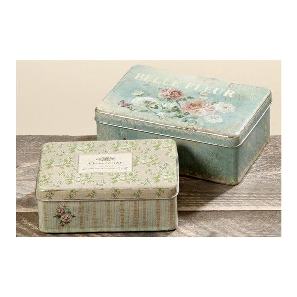 Sada 2 dekorativních krabiček Fleur