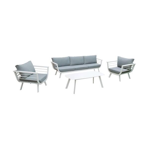 Elia 4 db-os kerti bútorszett alumínium szerkezetű asztallal - ADDU