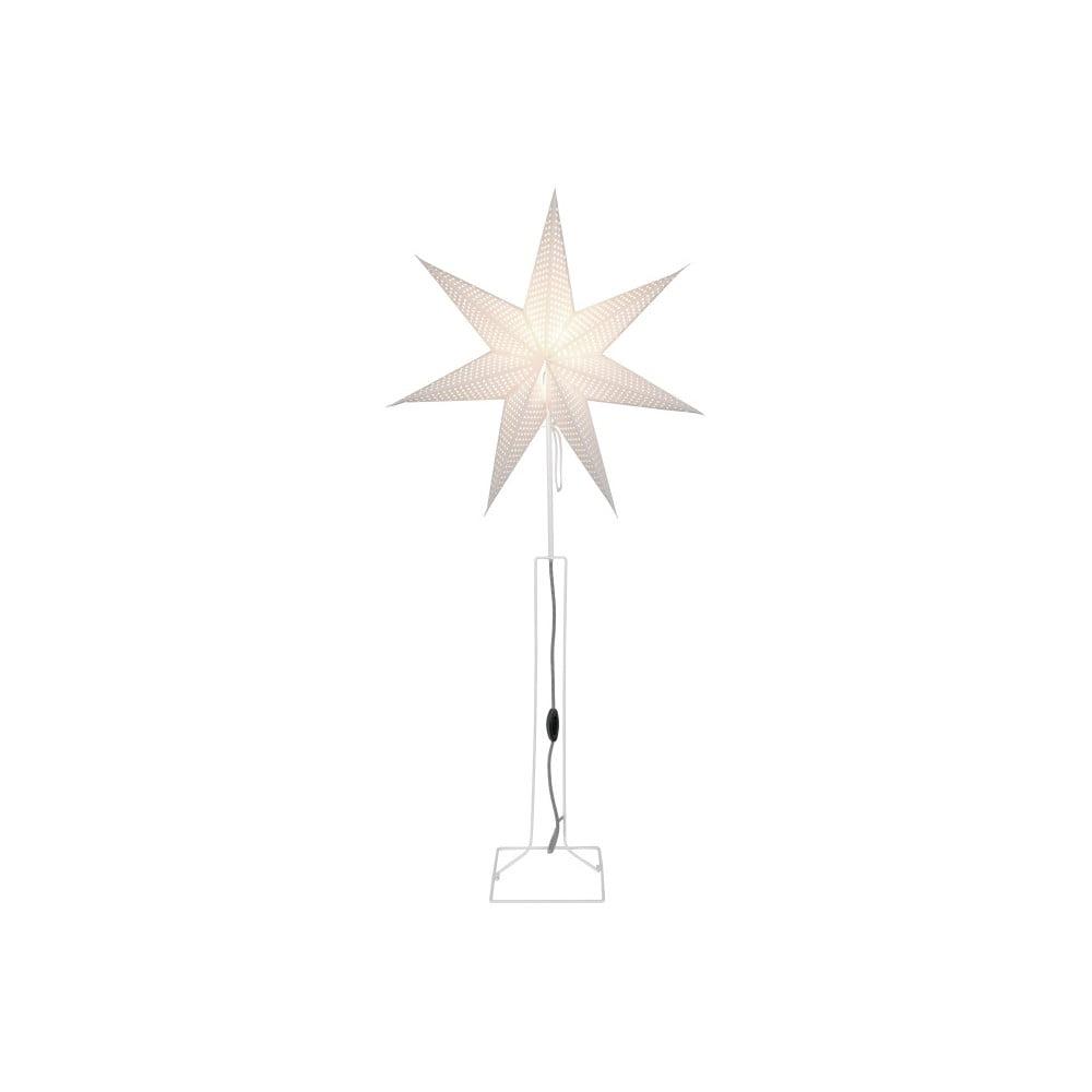 Bílá svítící hvězda se stojanem Best Season Huss, 60 cm