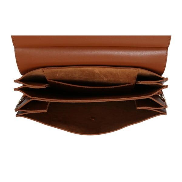 Koňakově hnědá kabelka z eko kůže Beverly Hills Polo Club Sylvia