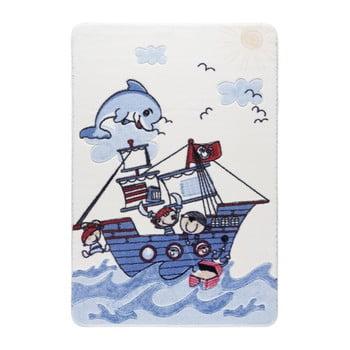 Covor pentru copii Confetti Smiley Dolphin 133 x 190 cm albastru