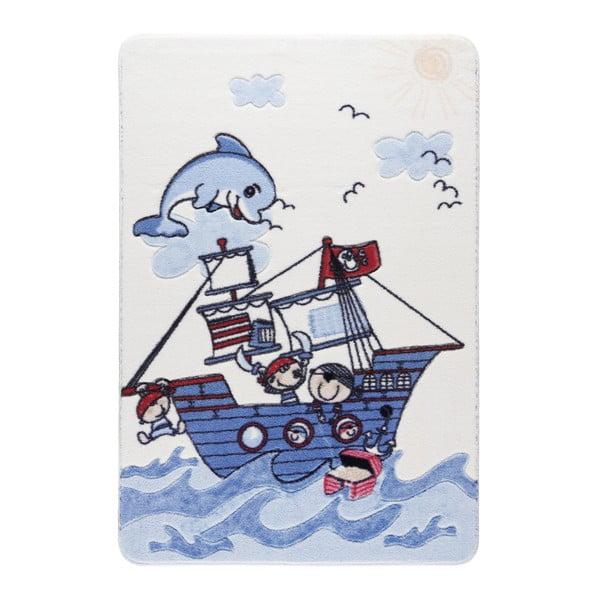 Confetti Smiley Dolphin kék gyerekszőnyeg, 133 x 190 cm