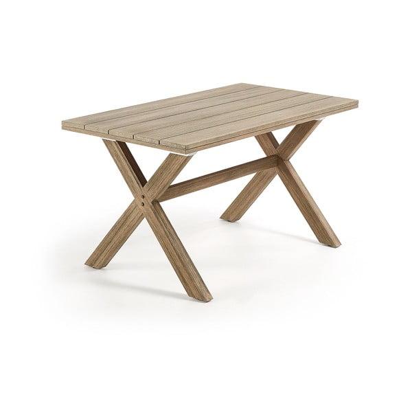 Stół z drewna eukaliptusowego La Forma Brilliant, 80x140 cm