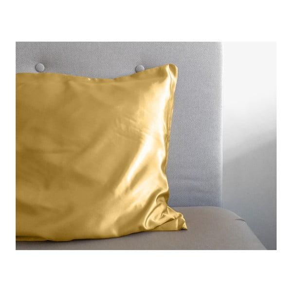 Povlak na polštář z mikroperkálu ve zlaté barvě Sleeptime Skin Care,60x70cm