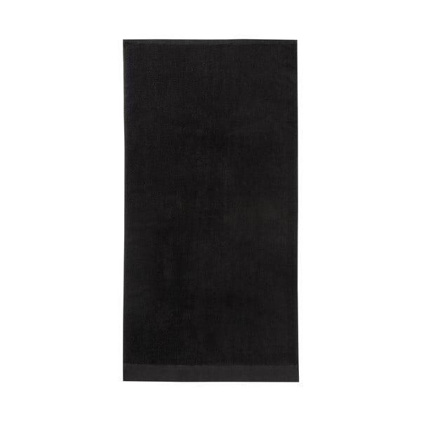 Černá osuška Seahorse Pure, 70x140cm