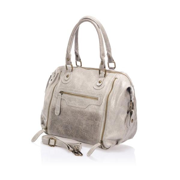 Kožená kabelka Kiara, šedá
