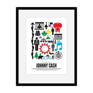 Plakát Johny Cash, 50x70 cm
