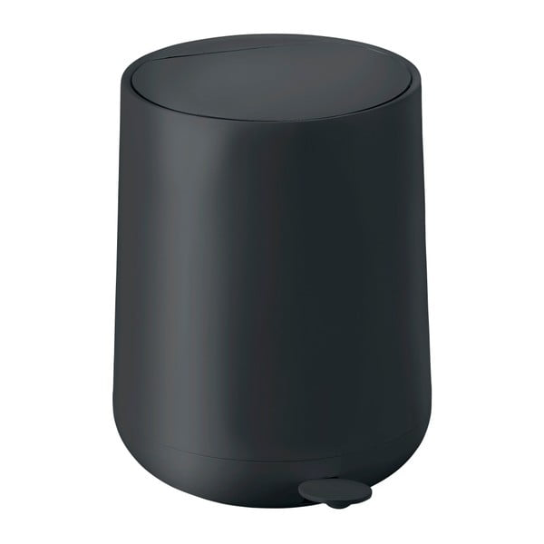 Černý pedálový odpadkový koš Zone Nova,5l