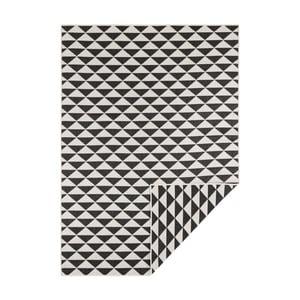 Černo-krémový oboustranný koberec vhodný i na ven Bougari Tahiti, 200 x 290 cm