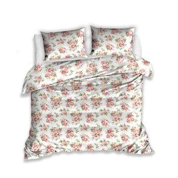 Lenjerie de pat din bumbac pentru pat dublu, cu 2 fețe de pernă CARBOTEX Rosie, 220x200cm