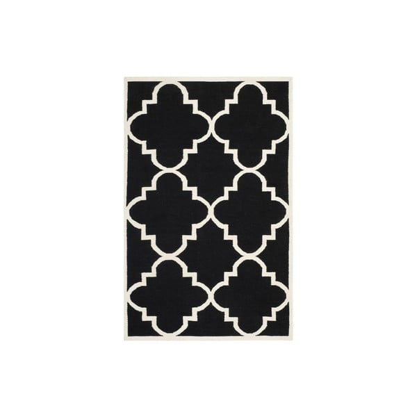 Czarny wełniany dywan Safavieh Alameda, 243x152 cm