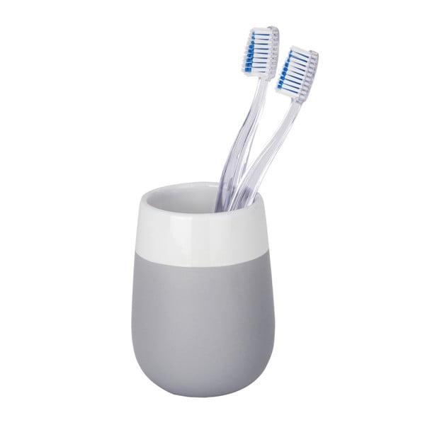 Matta szürke-fehér kerámia fogkefetartó pohár - Wenko
