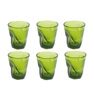 Sada 6 sklenic Kaleidos 225 ml, zelená