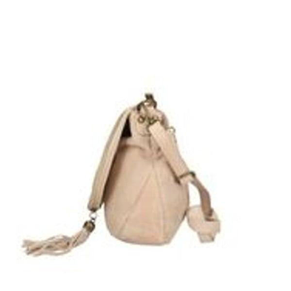 Světle růžová kožená kabelka Chicca Borse Sullo