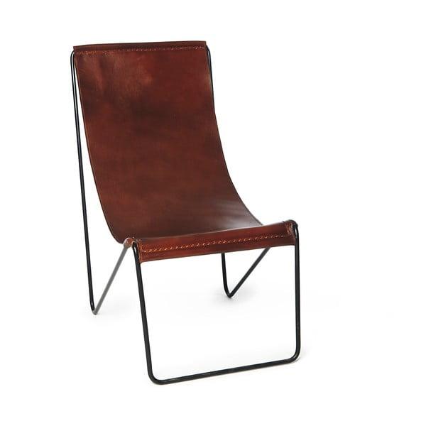 Leather barna valódi bőr szék - Simla