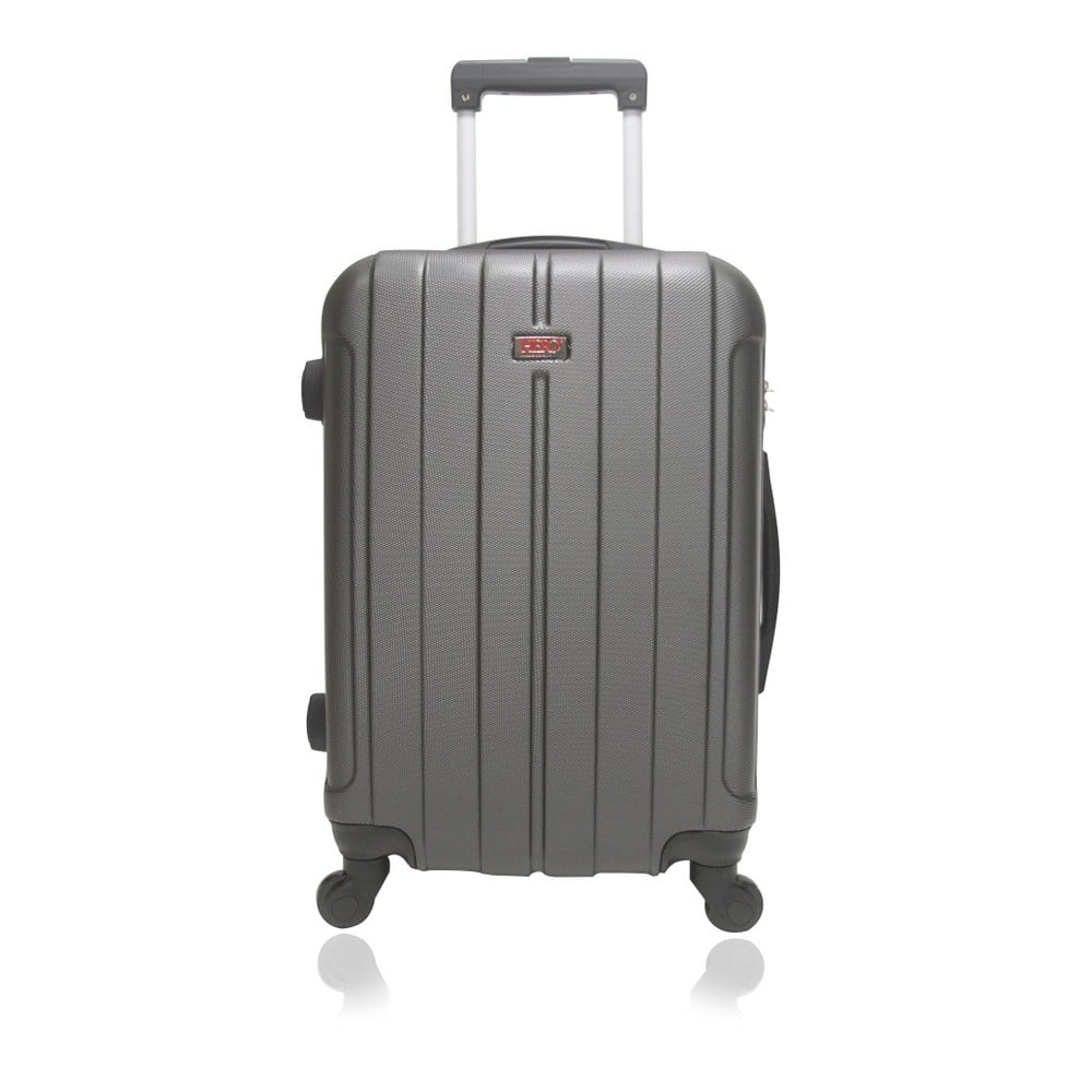 Tmavě šedý cestovní kufr na kolečkách Hero Fogo, 93 l