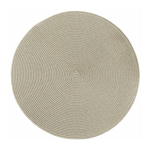 Béžové guľaté prestieranie Tiseco Home Studio Round Chambray, ø 38 cm