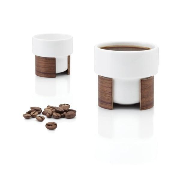Set hrnků na espresso Warm Walnut, 8 cl, 2 ks