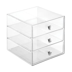 Transparentní úložný box s 3 šuplíky InterDesign Drawers, výška16,5 cm