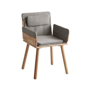Scaun cu șezut textil și cotiere DEEP Furniture Jack