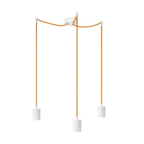 Tři závěsné kabely Bulb Attack Cero, oranžová/bílá