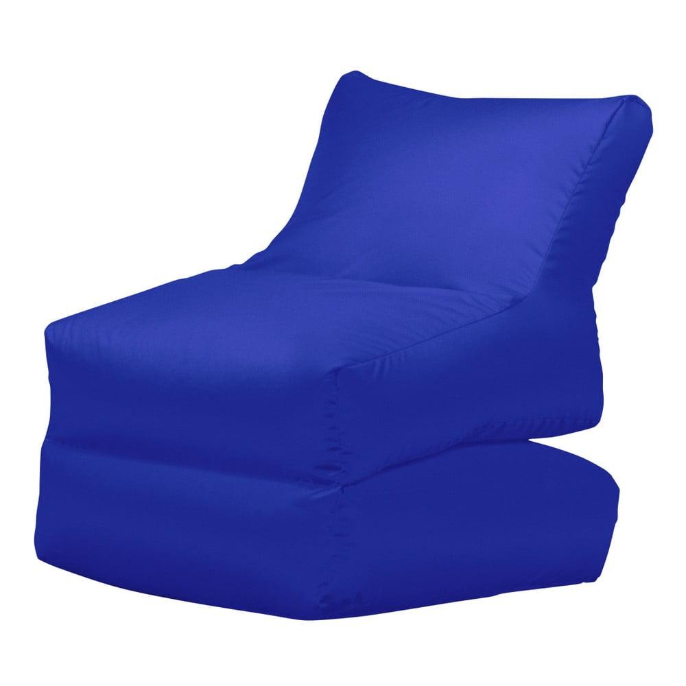 Modré skládací lehátko Sit and Chill Lato