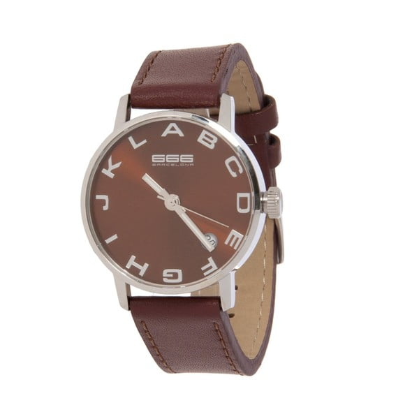 Dámské hodinky Alphabet Lady Leather Light Brown