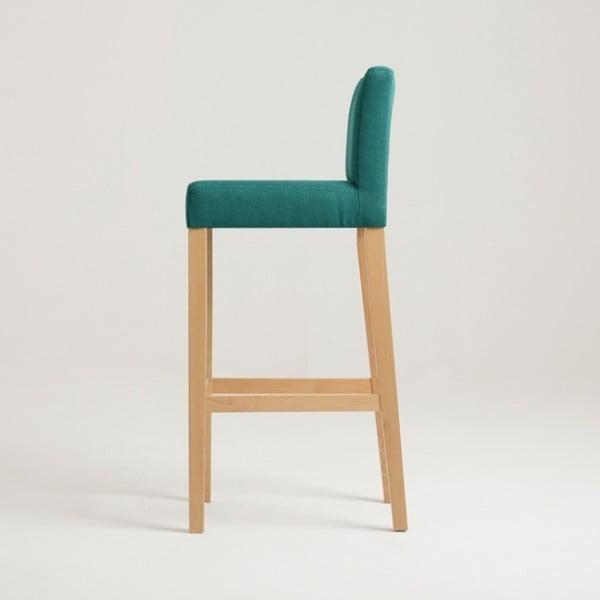 Tyrkysová barová židle s přírodními nohami Custom Form Wilton