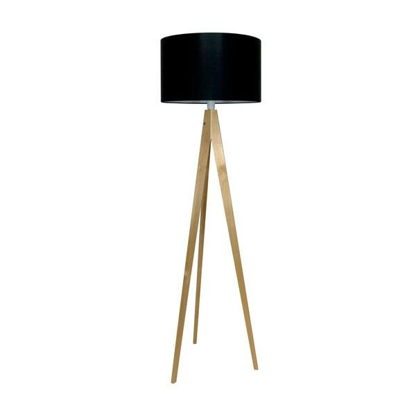 Stojací lampa Artist Black/Birch, 125x42 cm