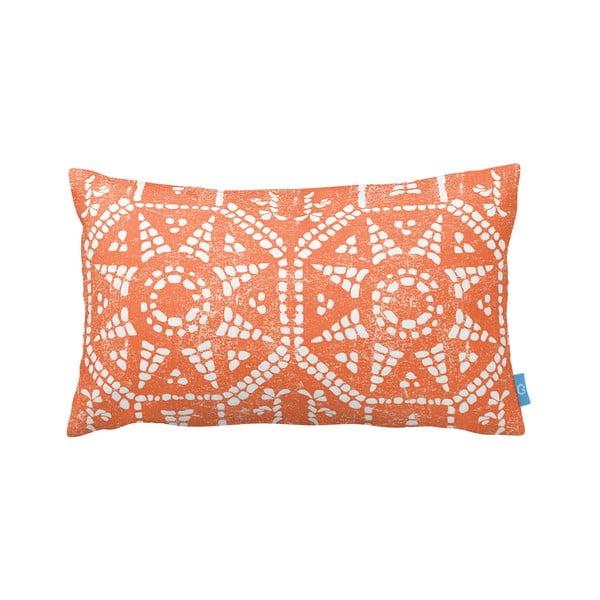 Oranžovobílý polštář Homemania Orange Sun, 35x60cm