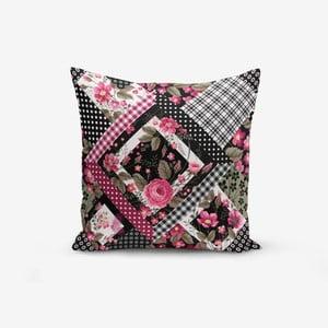 Povlak na polštář s příměsí bavlny Minimalist Cushion Covers Ekosa Geometric Sekiller, 45 x 45 cm