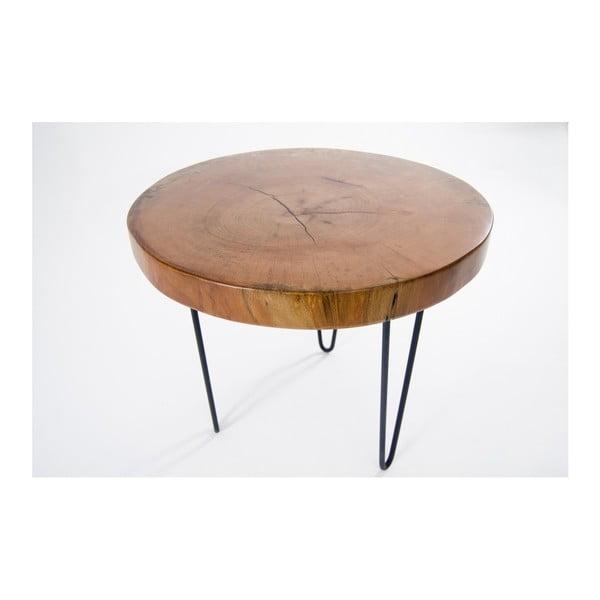 Soloma kisasztal masszív diófa lappal