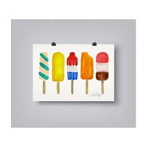 Poster Americanflat Popsicles, 30 x 42 cm