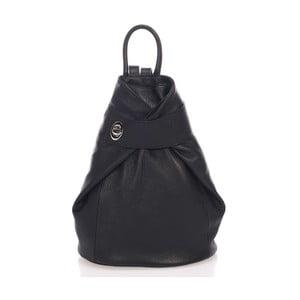 Černý kožený batoh Lisa Minardi Narni