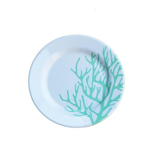 Zestaw 6 talerzy melaminowych Sunvibes Corail Bleu, ⌀ 20 cm