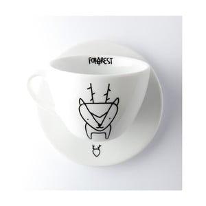 Hrneček na kávu s podšálkem FOR.REST Design Deer,200ml