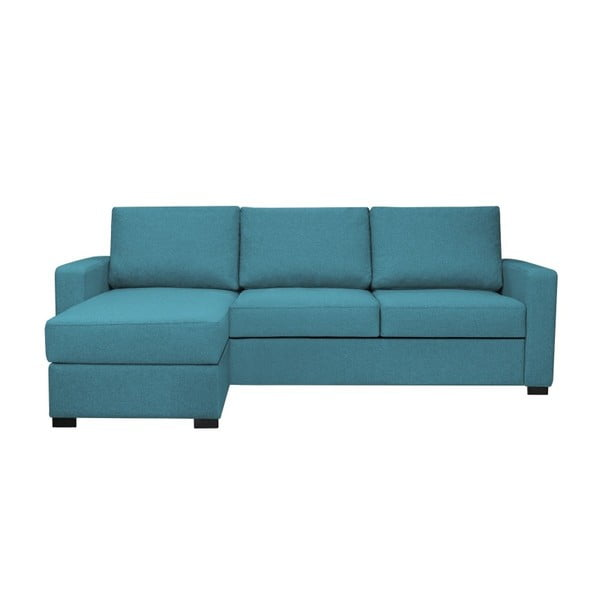 Anna kék háromszemélyes kanapé, bal oldalii - HARPER MAISON