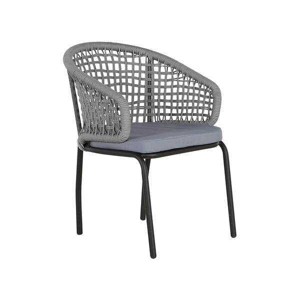 Set 2 scaune de grădină Monobeli Ibiza, gri