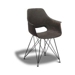 Tmavě šedá jídelní židle s nohami z bukového dřeva Furnhouse Elvis