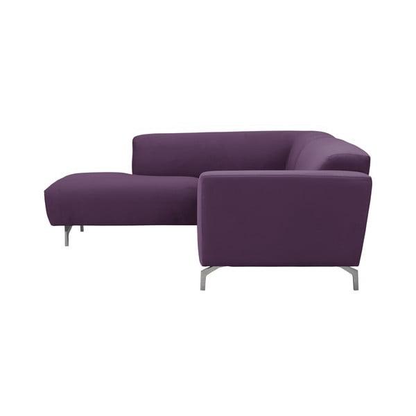 Fialová rohová pohovka Windsor & Co Sofas Orion, levý roh