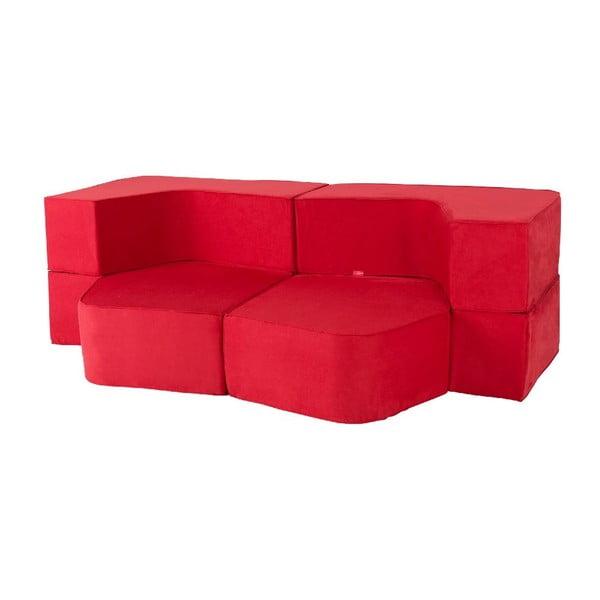 Rozkládací multifunkční pohovka Sofa&Bed, červená