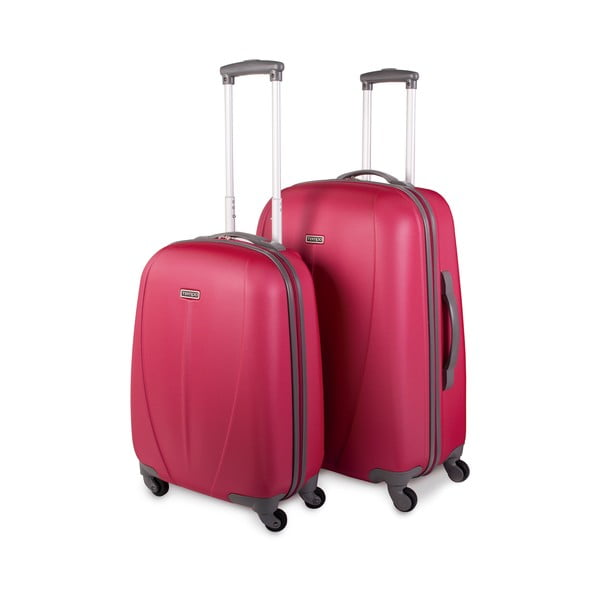 Sada 2 kufrů Tempo, jahodově červená
