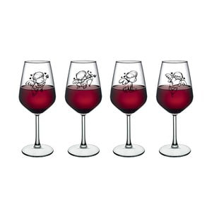Sada 4 sklenic na víno Vivas Little Angels, 345 cm